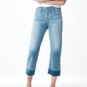 Citizens of Humanity Cora crop relaxed hem jeans